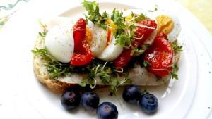 lunch met gedroogde tomaten